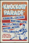 "Movie Posters:Sports, Knockout Parade (Cardinal Films, 1953). One Sheet (27"" X 41"").Sports. ..."