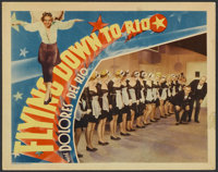 "Flying Down to Rio (RKO, 1933). Lobby Card (11"" X 14""). Musical"