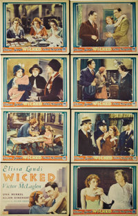 "Wicked (Fox, 1931). Lobby Card Set of 8 (11"" X 14""). Elissa Landi stars as a basically decent woman led down t..."