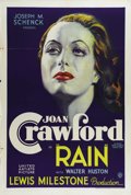 "Movie Posters:Drama, Rain (United Artists, 1932). One Sheet (27"" X 41""). Joan Crawfordlooks positively angelic in this beautiful stone litho por..."