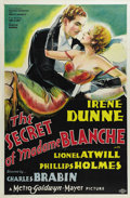 "Movie Posters:Drama, The Secret of Madame Blanche (MGM, 1933). One Sheet (27"" X 41"").Irene Dunne stars as a music hall showgirl impregnated by a..."