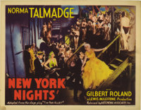 "New York Nights (United Artists, 1929). Lobby Card (11"" X 14""). Based on the hit stage play ""Tin Pan Alle..."