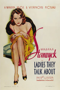 "Ladies They Talk About (Warner Brothers, 1933). One Sheet (27"" X 41""). Only Warner Brothers could cast one of..."