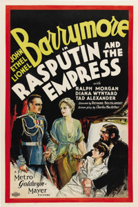 "Rasputin and the Empress (MGM, 1932) One Sheet (27"" X 41""). Very rare original U.S. poster for controversial f..."