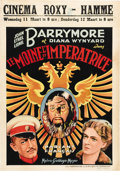 "Movie Posters:Drama, Rasputin and the Empress (MGM, 1932) Belgian One Sheet (24.5"" X 35""). This was the only film that John, Ethel and Lionel Bar..."