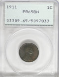 Proof Lincoln Cents, 1911 1C PR65 Brown PCGS....