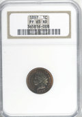 Proof Indian Cents, 1897 1C PR65 Red NGC....