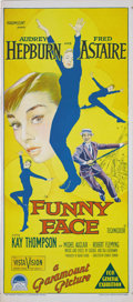 "Movie Posters:Romance, Funny Face (Paramount, 1957). Australian Daybill (13"" X 30"").Audrey Hepburn is turned into a top fashion model by Fred Asta..."