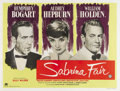 "Movie Posters:Romance, Sabrina (Paramount, 1954). British Quad (30"" X 40""). This beautifulBritish poster featuring portraits of Humphrey Bogart, A..."