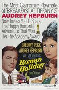 """Movie Posters:Romance, Roman Holiday (Paramount, R-1962). One Sheet (27"""" X 41""""). Audrey Hepburn became an Oscar-winning star with this film, in whi..."""