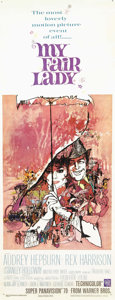 "Movie Posters:Comedy, My Fair Lady (Warner Brothers, 1964). Insert (14"" X 36""). George Bernard Shaw's play ""Pygmalion"" earned eight Oscars, includ..."
