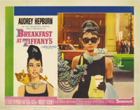 """Breakfast At Tiffany's (Paramount, 1961). Lobby Card (11"""" X 14""""). This card captures one of the most beloved a..."""