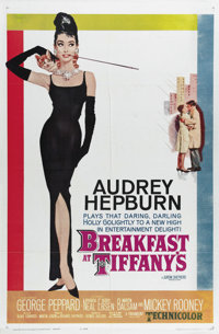 "Breakfast At Tiffany's (Paramount, 1961). One Sheet (27"" X 41""). Audrey Hepburn stars as Holly Golightly, a we..."