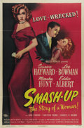 "Movie Posters:Drama, Smash-Up: The Story of a Woman (Universal International, 1946). OneSheet (27"" X 41""). Susan Hayward earned a Best Actress O..."