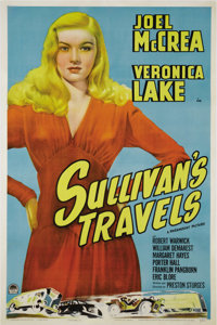 """Sullivan's Travels (Paramount, 1941.) One Sheet (27"""" X 41""""). Considered by many to be writer-director Preston..."""