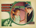 "Movie Posters:Comedy, Bureau of Missing Persons (Warner Brothers - First National, 1933).Lobby Card (11"" X 14""). Pat O'Brien and Bette Davis star..."