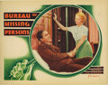 "Movie Posters:Comedy, Bureau of Missing Persons (Warner Brothers - First National, 1933).Lobby Cards (2) (11"" X 14""). Two cards are offered here ... (Total:2 Items)"