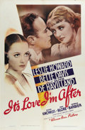 """Movie Posters:Comedy, It's Love I'm After (Warner Brothers, 1937). One Sheet (27"""" X 41"""").Bette Davis and Olivia de Havilland shine in this romant..."""