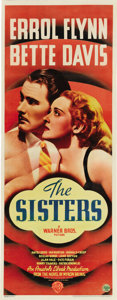 "Movie Posters:Drama, The Sisters (Warner Brothers, 1938). Insert (14"" X 36""). Errol Flynn and Bette Davis made only two films together. The two l..."