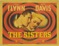 "Movie Posters:Drama, The Sisters (Warner Brothers, 1938). Title Title Lobby Card (11"" X14""). This title card starring Errol Flynn and Bette Davi..."