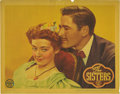 "Movie Posters:Drama, The Sisters (Warner Brothers, 1938). Lobby Card (11"" X 14""). Thisportrait card with Bette Davis and Errol Flynn exhibits a ..."