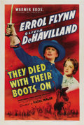 "Movie Posters:Western, They Died With Their Boots On (Warner Brothers, 1941) One Sheet(27"" X 41""). The life of George Custer - told Hollywood styl..."