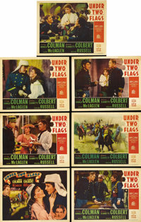 """Under Two Flags (20th Century Fox, 1936). Title Lobby Card and Lobby Cards (6) (11"""" X 14""""). Ronald Colman is a..."""