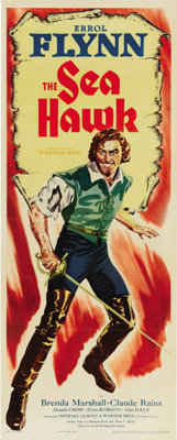 """The Sea Hawk (Warner Brothers - First National, 1940). Insert (14"""" X 36""""). Under the direction of Michael Curt..."""
