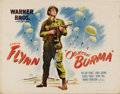 "Movie Posters:War, Objective Burma (Warner Brothers, 1945). Two Half Sheets (22"" X28""). This lot consists of both style half sheets for one of...(Total: 2 Items)"