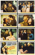 "Movie Posters:Drama, Waterloo Bridge (MGM, 1940). Lobby Card Set of 8 (11"" X 14"").Vivien Leigh stars with Robert Taylor in this romantic drama a...(Total: 8 Items)"