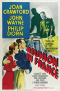 """Movie Posters:War, Reunion in France (MGM, 1942). One Sheet (27"""" X 41""""). Style D. JoanCrawford is a Frenchwoman in occupied Paris during WW II..."""