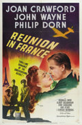 """Movie Posters:War, Reunion in France (MGM, 1942). One Sheet (27"""" X 41""""). Style C. Thisis a lovely, vibrant print and is in excellent condition..."""