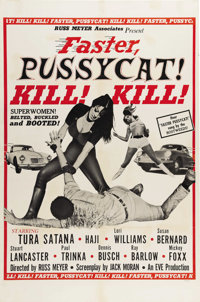 "Faster, Pussycat! Kill! Kill! (Eve Productions, 1965). One Sheet (27"" X 41""). Tura Satana, Haji and Lori Willi..."