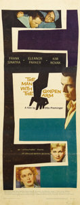 "Movie Posters:Drama, Man With the Golden Arm (United Artists, 1955). Insert (14"" X 36"").Frank Sinatra asked studio heads for the role that becam..."
