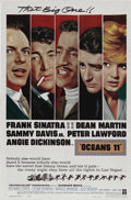 "Movie Posters:Drama, Ocean's 11 (Warner Brothers, 1960). One Sheet (27"" X 41""). The ""RatPack"" (Frank Sinatra, Dean Martin, Sammy Davis, Jr., Pet..."
