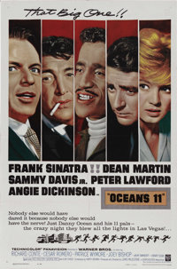 "Ocean's 11 (Warner Brothers, 1960). One Sheet (27"" X 41""). The ""Rat Pack"" (Frank Sinatra, Dean Marti..."