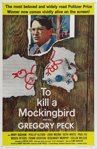 "To Kill a Mockingbird (Universal, 1963). One Sheet (27"" X 41""). Gregory Peck stars as attorney Atticus Finch..."