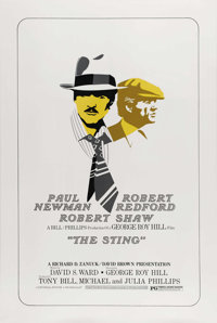 "The Sting (Universal, 1974). International One Sheet (27"" X 41""). One of the joys of watching ""The Sting&..."