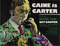 """Movie Posters:Crime, Get Carter (MGM, 1971). British Quad (40"""" X 30""""). Writer-Director Mike Hodges wanted violence with reality, which he deliver..."""