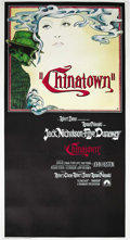 "Movie Posters:Film Noir, Chinatown (Paramount, 1974). Three Sheet (41"" X 81""). RomanPolanski's last U.S. film is one of the greatest detective stori..."