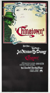 "Chinatown (Paramount, 1974). Three Sheet (41"" X 81""). Roman Polanski's last U.S. film is one of the greatest d..."