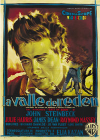 """East of Eden (Warner Brothers, 1955). Italian 4-Folio (55"""" X 78""""). This was the debut film that brought James..."""