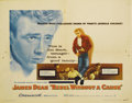 "Movie Posters:Cult Classic, Rebel Without a Cause (Warner Brothers, 1955). Half Sheet (22"" X28""). James Dean and Natalie Wood star on this half sheet, ..."