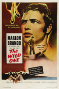 "Movie Posters:Drama, The Wild One (Columbia, 1953). One Sheet (27"" X 41""). Although troubled youths had already established their place in the ci..."