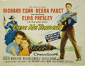 "Movie Posters:Elvis Presley, Love Me Tender (Twentieth Century Fox, 1956). Half Sheet (22"" X 28""). Elvis Presley, Debra Paget, and Richard Egan star in t..."