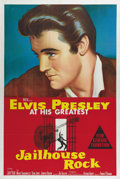 "Movie Posters:Elvis Presley, Jailhouse Rock (MGM, 1957). Australian One Sheet (27"" X 40""). ElvisPresley shines thanks to the dazzling color on this ston..."