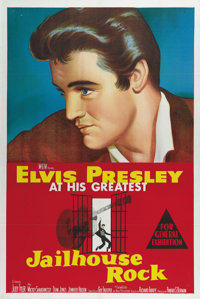 "Jailhouse Rock (MGM, 1957). Australian One Sheet (27"" X 40""). Elvis Presley shines thanks to the dazzling colo..."