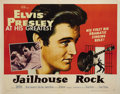 "Movie Posters:Elvis Presley, Jailhouse Rock (MGM, 1957). Half Sheet (22"" X 28""). This Elvis Presley poster shows minor fold wear from old folds, a crossf..."