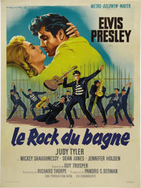 "Jailhouse Rock (MGM, 1957). French Grande (47"" X 63""). The perfect blending of plot and musical numbers makes..."