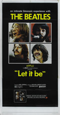 "Movie Posters:Musical, Let It Be (United Artists, 1970). Three Sheet (41"" X 81""). Thisdocumentary showing how the Beatles made music, and how they..."